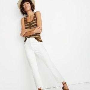 Madewell high rise slim crop boy jean tile white